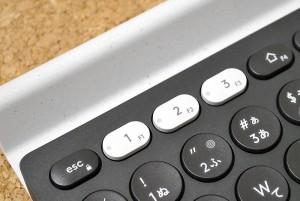 キーボード上側の切替ボタン